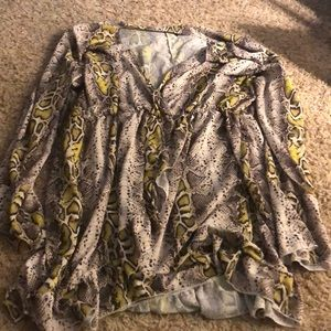 Snake skin mini dress
